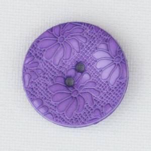 Bilde av Blomsterknapp fuchsia 15 mm plastknapp preget