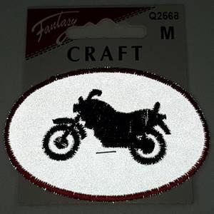 Bilde av Strykemerke refleks motorsykkel oval symerke