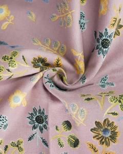 Bilde av Flanell valmue og margeritt fiolett ensidig