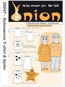 Bilde av 20047 - t-skjorte, genser og kjole med raglanerme