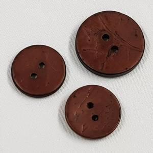 Bilde av Kokosknapp brun - 18 og 22 mm