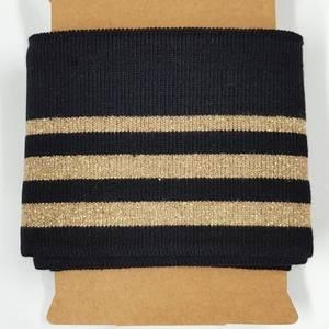 Bilde av Ribb kantstykke 110 cm sort / gull lurex