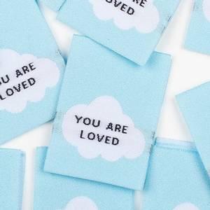 """Bilde av """"You are loved"""" - 8 stk symerker"""