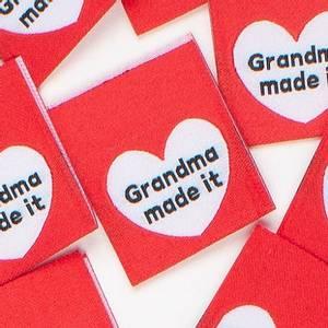 """Bilde av """"Grandma made it"""" - 8 stk symerker"""