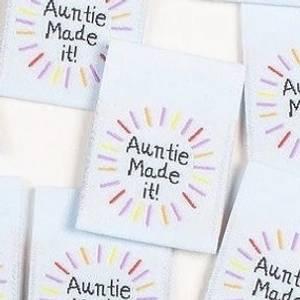 "Bilde av ""Auntie made it!"" - 8 stk symerker"