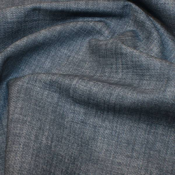 Bindevev Dresden gråblå quiltebomull linstrukturtrykk