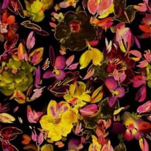 Bilde av Blomsterhav digital print stretch bomullsjersey