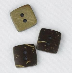 Bilde av Kokosknapp kvadrat 13x13 mm tosidig