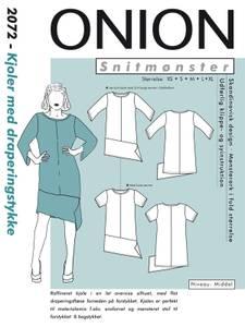 Bilde av 2072 - Kjole med draperingsstykke nede foran