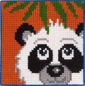 Bilde av Barnebroderi panda 25 x 25 cm