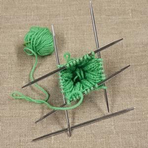 Bilde av Nova metall 10 cm strikkepinner settpinne