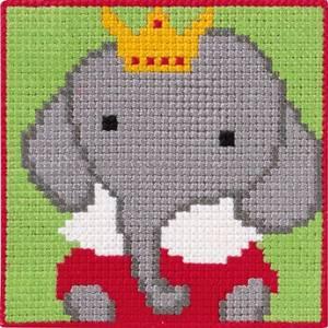 Bilde av Barnebroderi elefant 25 x 25 cm Kits for Kids