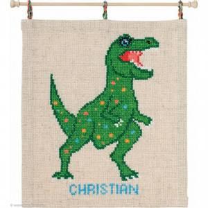 Bilde av Barnebroderi dinosaur navneskilt