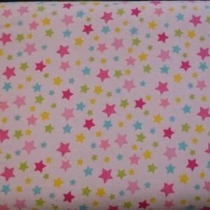 Bilde av Flanell med stjerner rosa