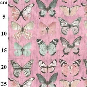 Bilde av Canvas sommerfugl rosa