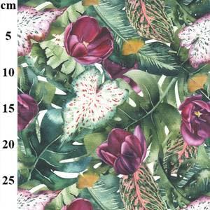 Bilde av Canvas tulipan og bregner