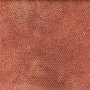 Bilde av Brent oransje prikker 11577 quiltestoff