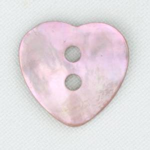 Bilde av Perlemorsknapp hjerte rosa 17 mm