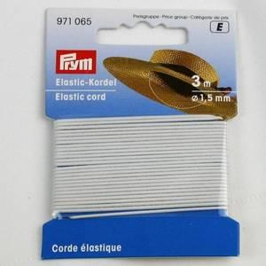 Bilde av Rundstrikk 1,5 mm hvit strikksnor 3 m hattestrikk