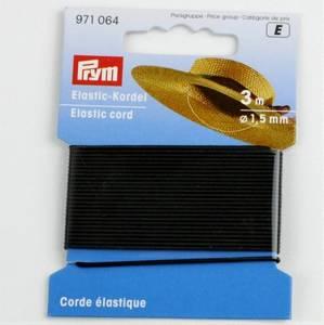Bilde av Rundstrikk 1,5 mm sort strikksnor 3 m hattestrikk