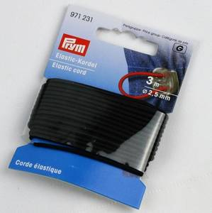 Bilde av Rundstrikk 2,5 mm sort strikksnor 3 m