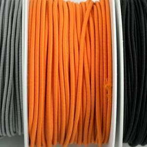 Bilde av Rundstrikk 3 mm oransje strikksnor