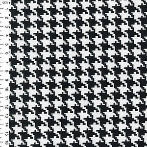 Bilde av Bomullssateng stretch hundetann sort/hvitt