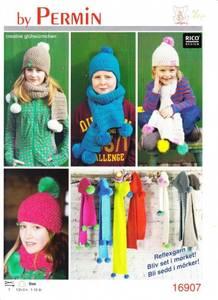 Bilde av Refleksgarn hue og hals til barn oppskrift