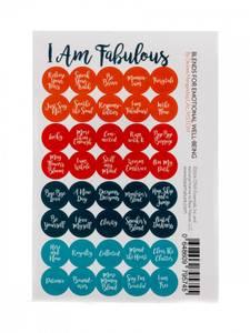 Bilde av I AM FABULOUS runde klistremerker til rollerkork