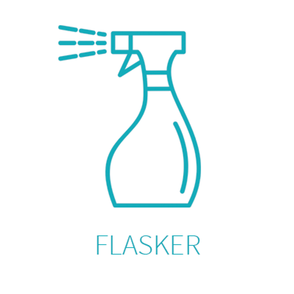 Eteriske oljer, webshop, flasker, sprayflasker, minispray