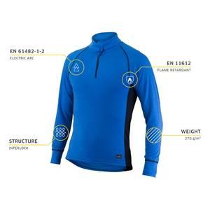 Bilde av Devold power zip neck blue