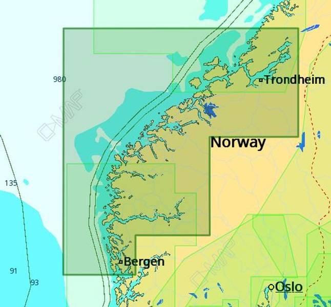 C-Map: Bergen til Brandsfjorden