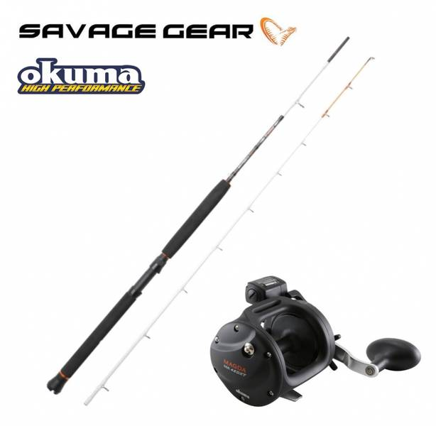 Savage Gear Trolling2 7' 10-20Lbs/Okuma Magda Linecounter MA-30D