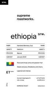 Ethiopia Hambela Wamena natural, Guji