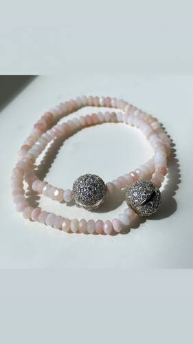 Armbånd rosa opaler