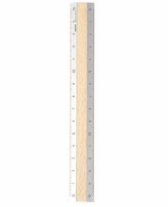 Bilde av Midori linjal med lyst tre, 15 cm
