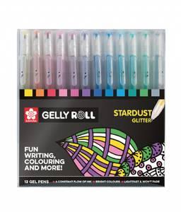 Bilde av Sakura Gelly Roll penner, glitter 12 stk
