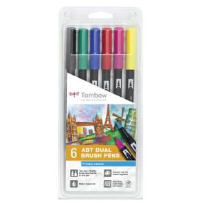 Bilde av Tombow 6 stk Brush Pens, Primary
