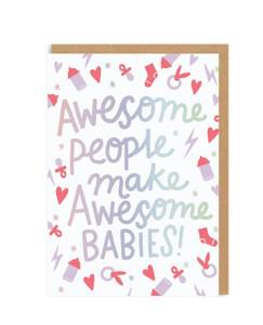 Bilde av Letterpress kort, Awesome babies