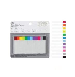 Bilde av Stalogy Thin Sticky Notes, 12 farger/ 120 stk