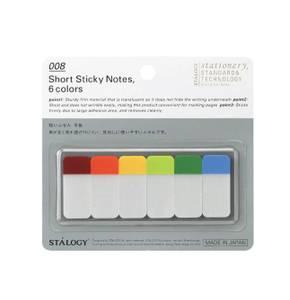 Bilde av Stalogy Editors Short Sticky Notes, 6 farger/ 60