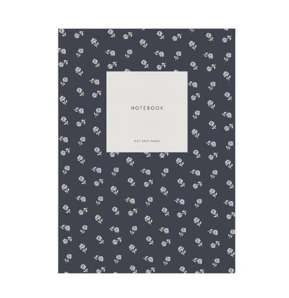 Kartotek Notatbok Flower Blue Dots, A5