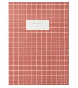 Bilde av Notatbok Check Brick Red, linjert A4
