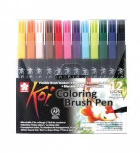 Bilde av KOI Coloring Brush Pen, 12 stk