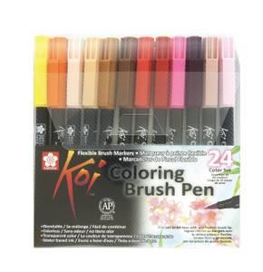 Bilde av KOI Coloring Brush Pen, 24 stk