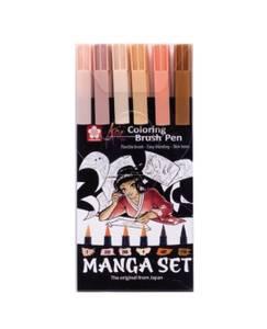 Bilde av KOI Coloring Brush Pens Manga Sett