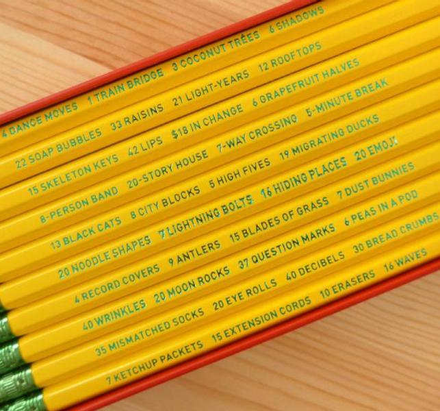 642 Things to Draw gave eske/ 10 stk blyanter