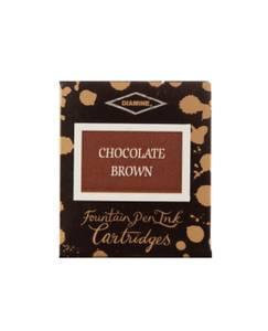 Bilde av Diamine Blekkpatroner 6 pkn, Chocolate Brown