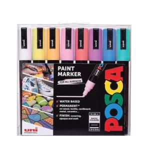 Bilde av POSCA PC-5M Paintmarker, 8 stk Pastellfarger