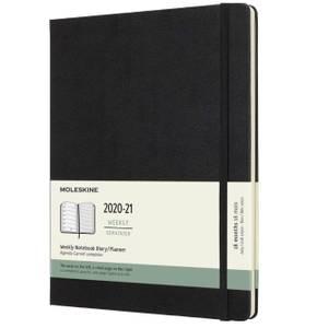 Bilde av Moleskine 18 mnd Weekly Notebook 2021/22, Sort XL